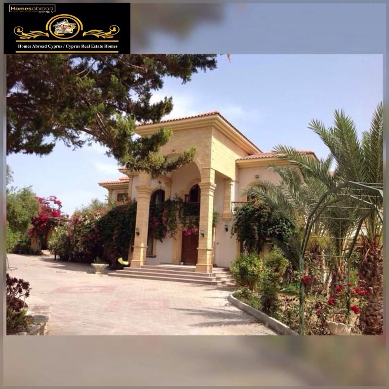5 Bedroom and 2 Livingroom Villa For Sale With Big Piece Of Land Location on the main high way road Edremit Alsancak Girne