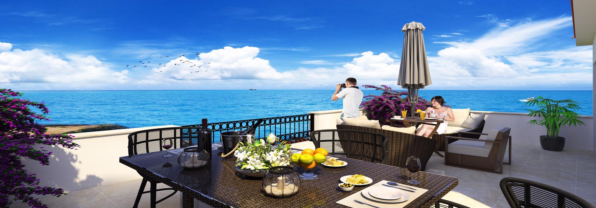 Elegant 2 Bedroom Penthouse For Sale Location Esentepe Girne North Cyprus (Sea Magic Royal)