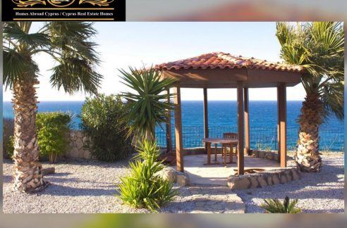 Sea Front, Exotic, 3 Bedroom Villa For Sale Location Morlais Bahçeli Kyrenia North Cyprus KKTC