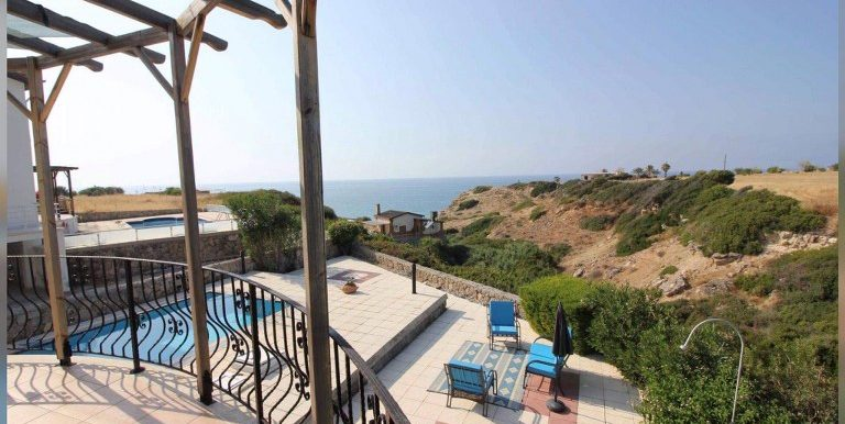 Superb Refurbished Seafront 3-bedroom Villa For Sale Location Sweet Homes Villas Küçük Erenköy Kyrenia North Cyprus KKTC