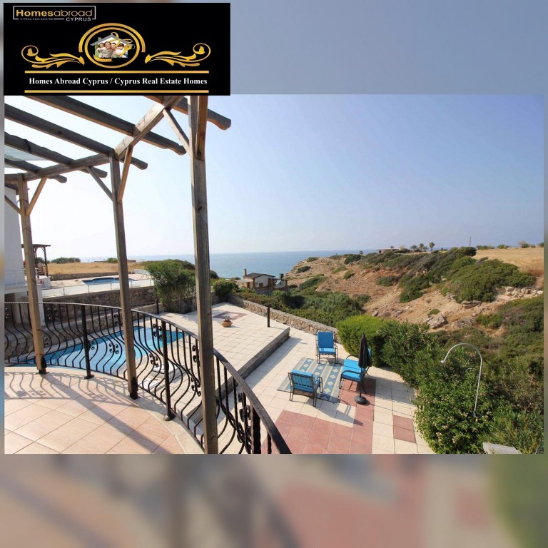 Superb Refurbished Seafront 3-bedroom Villa For Sale Location Sweet Homes Villas Küçük Erenköy Kyrenia
