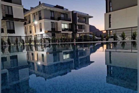 Nice 2 Bedroom Terrace Apartment With Beautifull Sea And Mountain Views Location Lapta Girne (For Rent) North Cyprus KKTC