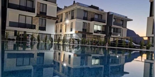 Nice 1 Bedroom Terrace Apartment With Beautiful Sea And Mountain Views Location Lapta Girne (For Rent)