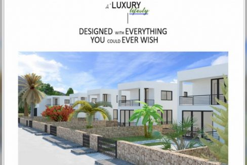 Adorable 3 Bedroom Villa For Sale Location Edremit Girne (with breathtaking of five fingers mountains and the Mediterranean sea views) North Cyprus KKTC TRNC