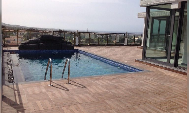 Live in Luxury Life Style Cozy 4 Bedroom Penthouse With Private Swimming Pool With Beautiful Panoramic Sea And Mountains Views Location Near Nusmar Market Girne (For Rent) North Cyprus KKTC TRNC