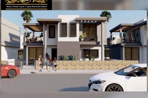 Nice 4 Bedroom Villas For Sale Location Near to Seaside Karsiyaka Girne North Cyprus KKTC TRNC