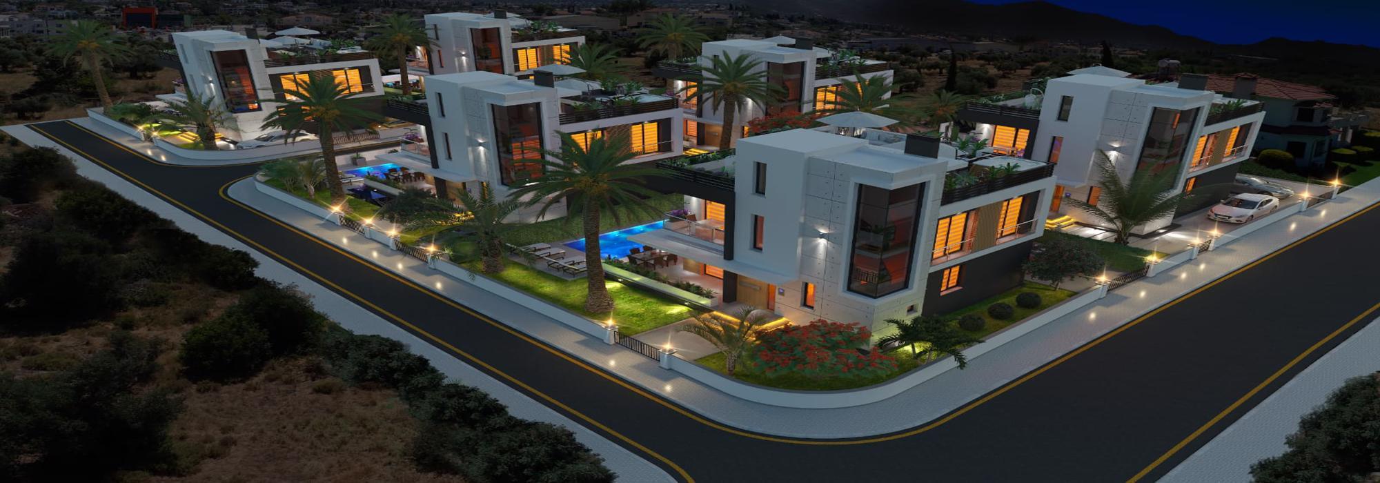 Elegant 4 Bedroom Villa For Sale Location Catalkoy Girne (Turkish Title Deeds)