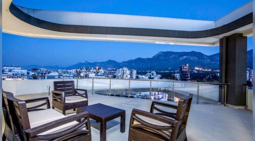 Brand-New Bright 2 Bedroom Penthouse For Rent Location Center Girne (your retreat from the modern world) North Cyprus KKTC TRNC