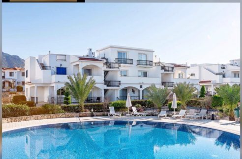 Spacious 1 bedroom duplex apartment with 3 balconies, Sea and Mountain View, in a walking distance to the beach Location Esentepe Girne (For Sale) North Cypus KKTC TRNC