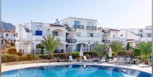 Spacious 1 bedroom duplex apartment with 3 balconies, Sea and Mountain View, in a walking distance to the beach Location Esentepe Girne (For Sale)