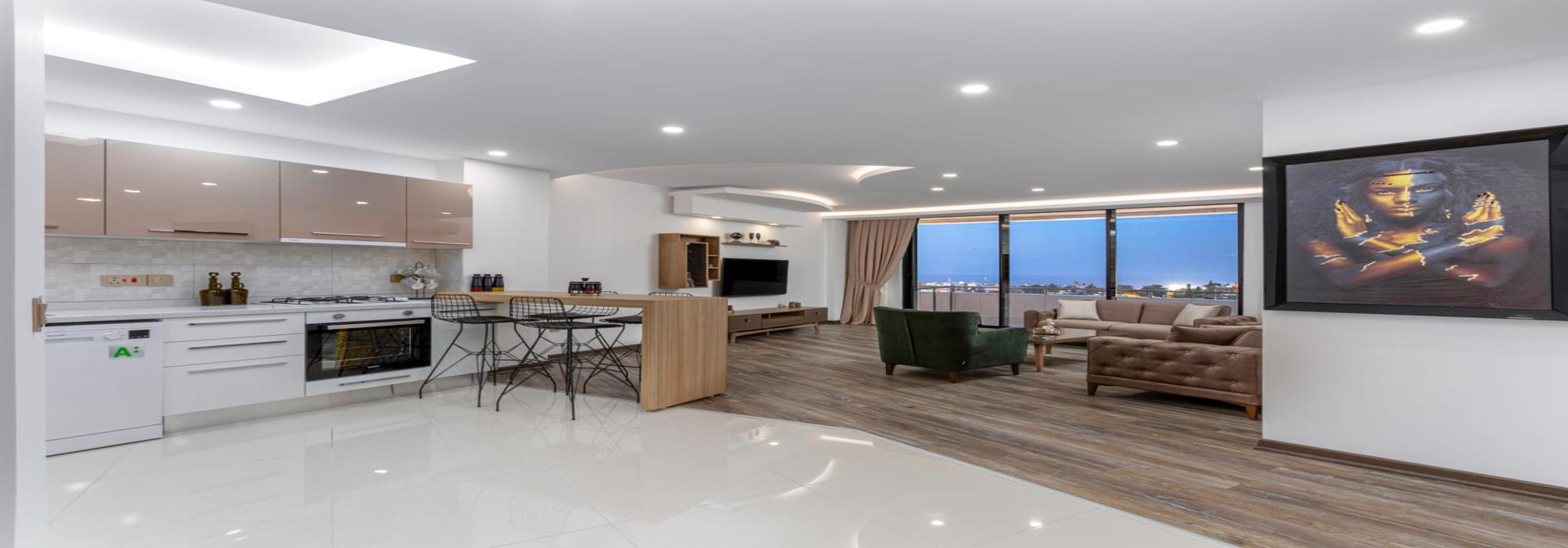 Brand-New Bright 2 Bedroom Penthouse For Rent Location Center Girne (your retreat from the modern world)